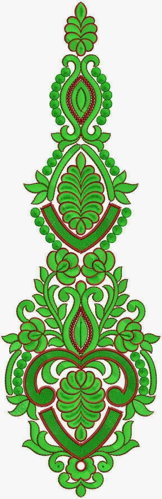 groen kleur borduurwerk appliekwerk ontwerp