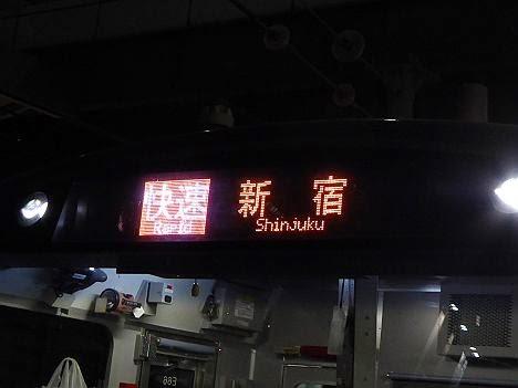 湘南新宿ライン 快速 新宿行き E233系(京浜東北線人身事故に伴う運行)