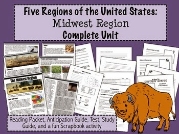 http://www.teacherspayteachers.com/Product/Regions-of-the-United-States-Midwest-Complete-Unit-5-Regions-113492
