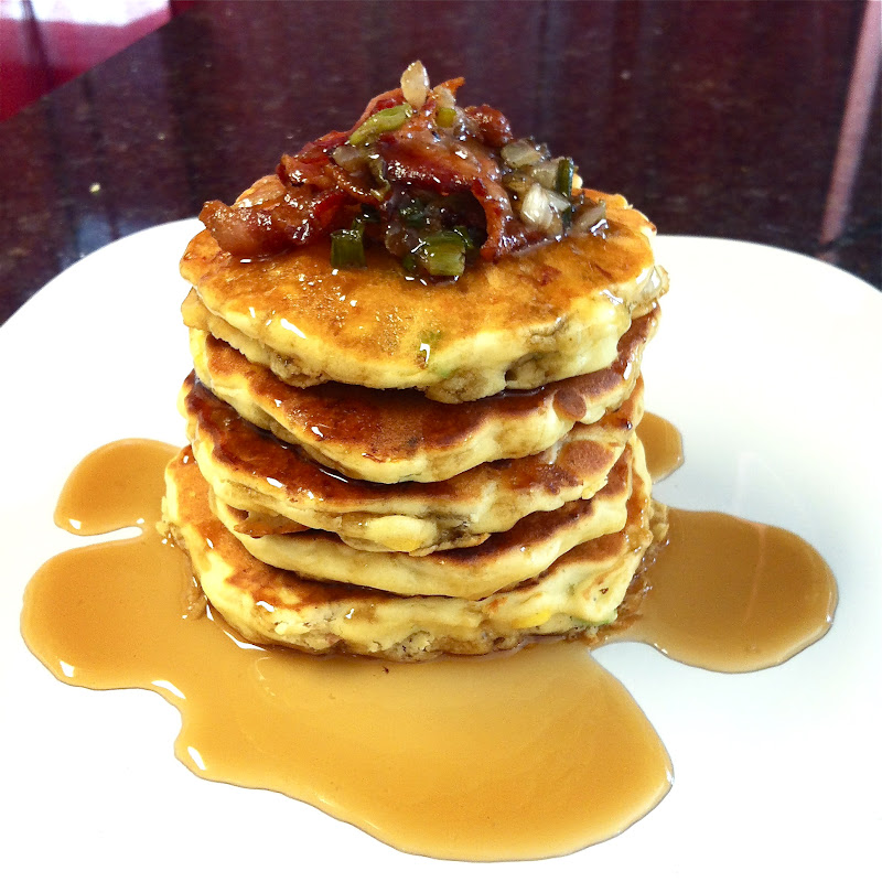 Burnin' Down The House: Bacon and Corn Griddle Cakes