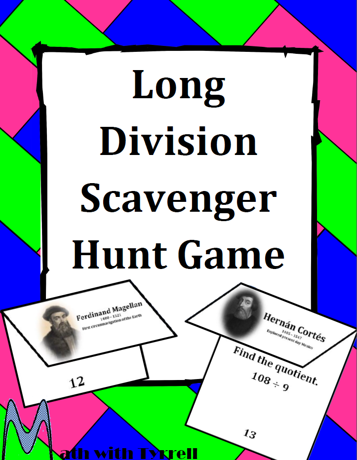 https://www.teacherspayteachers.com/Product/Long-Division-Scavenger-Hunt-Game-1471447