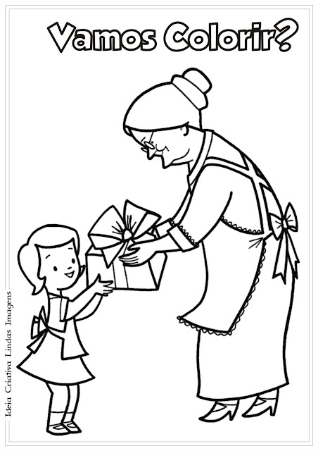 Dia dos Avós para colorir