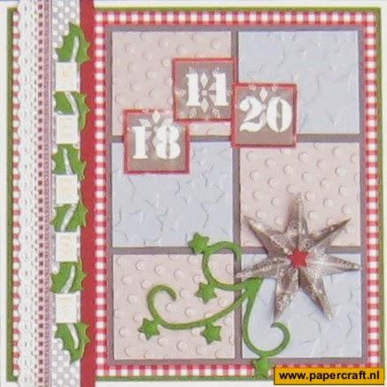 Rosa Dotje Kerst design papier