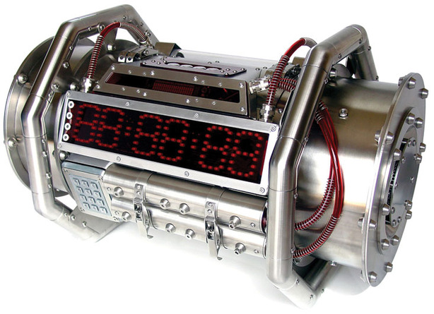 PC case design resembling a time bomb
