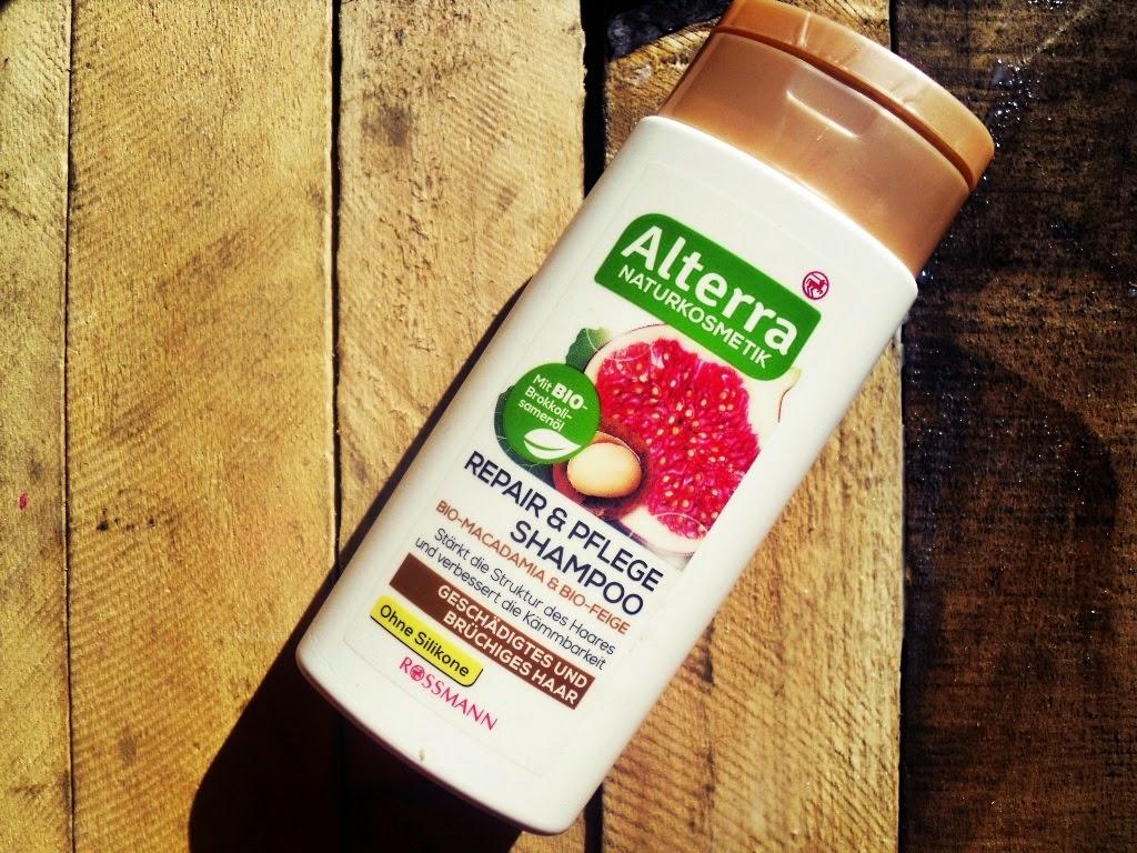 Alterra, szampon regenerujący orzech makadamia BIO i figa BIO