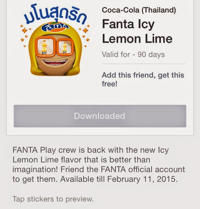 Fanta Icy Lemon Lime sticker