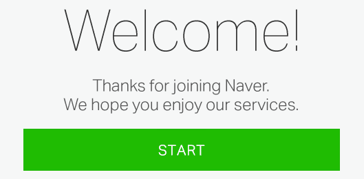 welcome naver page