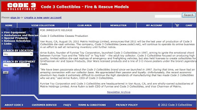 Code 3 Fire Engine die-cast models