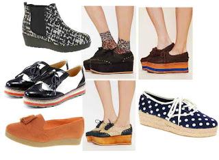 Trend model sepatu terbaru Juli 2012 Flatforms Model Sepatu Wanita 2013 Yang Lagi Musim Saat Ini