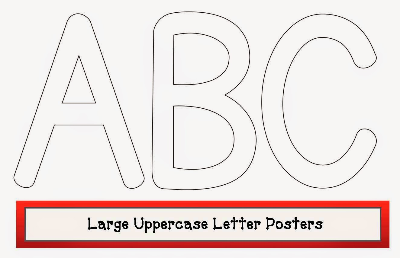 classroom freebies large uppercase letter posters With big poster letters