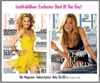 Lush fab glam blogazine exclusive deal elle magazine for Subscribe to elle magazine