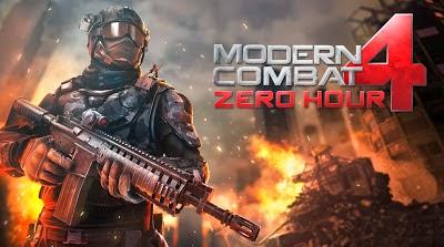 Modern Combat 4 Zero Hour Apk + Data