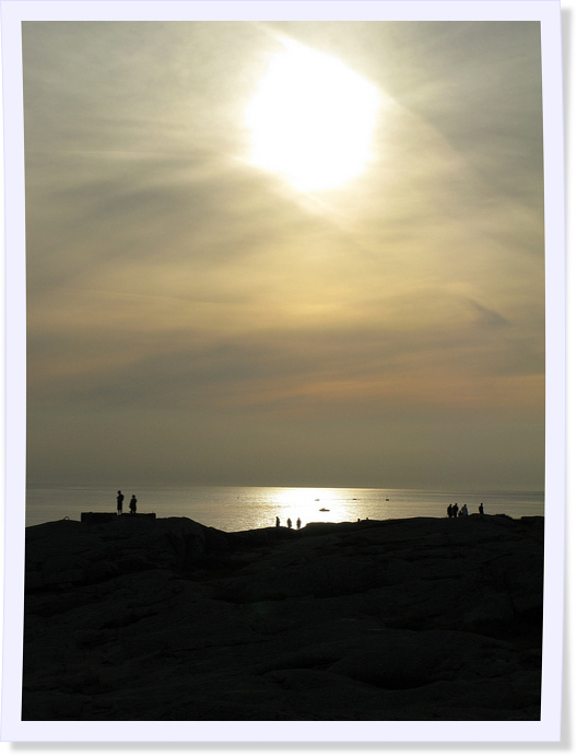 People Enjoying Summer Sunet on Vinga Island, Sweden