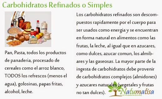 carbohidratos refinados o simples