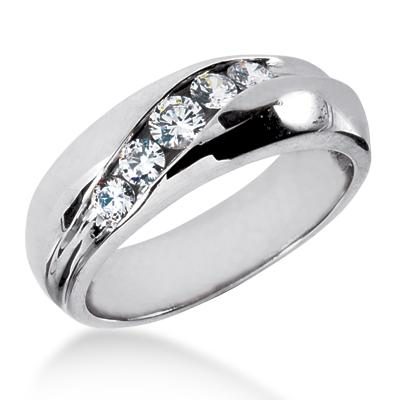 Mens Wedding Bands With Diamond Play With Fashion