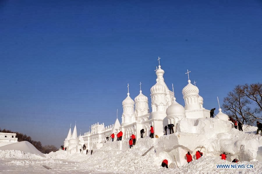 Jingyue snow palace, East China - Top 10 Coolest Snow Buildings