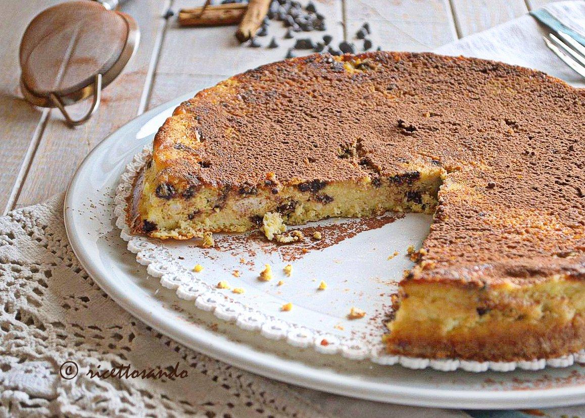 Pizza dolce di Toritto ricetta dolce di ricotta con cannella e cioccolato