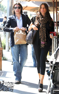 Sofia Vergara and her son shopping