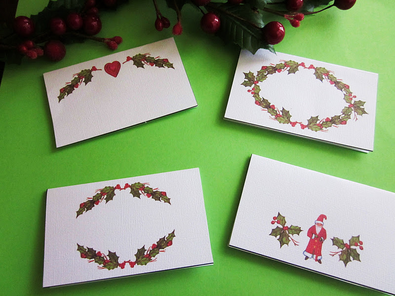 Homespun With Love Christmas Place Cards - Christmas place cards template