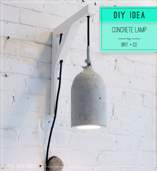 Diy concrete pendant lamp by Brit+Co