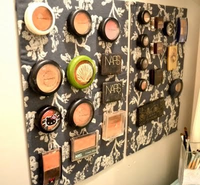 11 Ways to Organize with Magnets - for make up:: OrganizingMadeFun.com