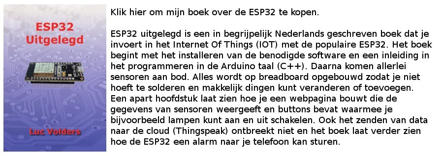 Mijn boek over the ESP32