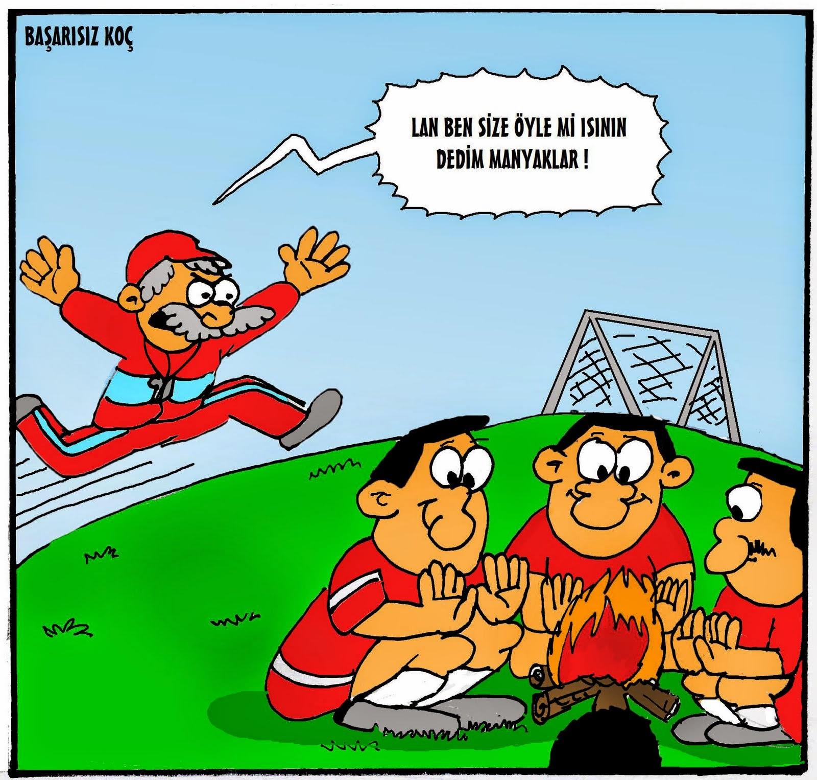 2017 Komik Karikatürler Başarısız Koç