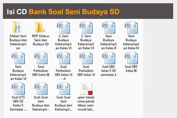 CD Bank Soal Seni Budaya SD Kelas 1, 2, 3, 4, 5, dan 6