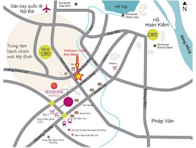 Vị trí dự án Vinhomes Trần Duy Hưng