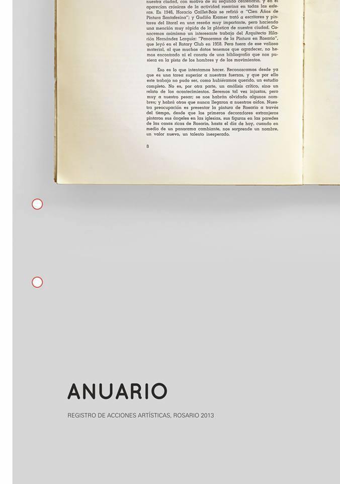 Anuario. Registro de acciones artísticas