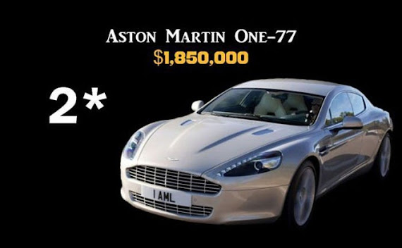 Aston Martin One-77 $1,850,000