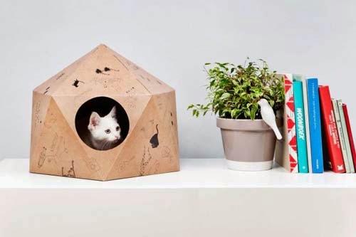 Сделать своими руками из картона дом для кошки своими руками