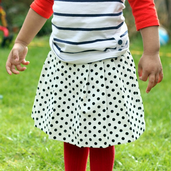 Poltam pleated skirt free pattern DIY