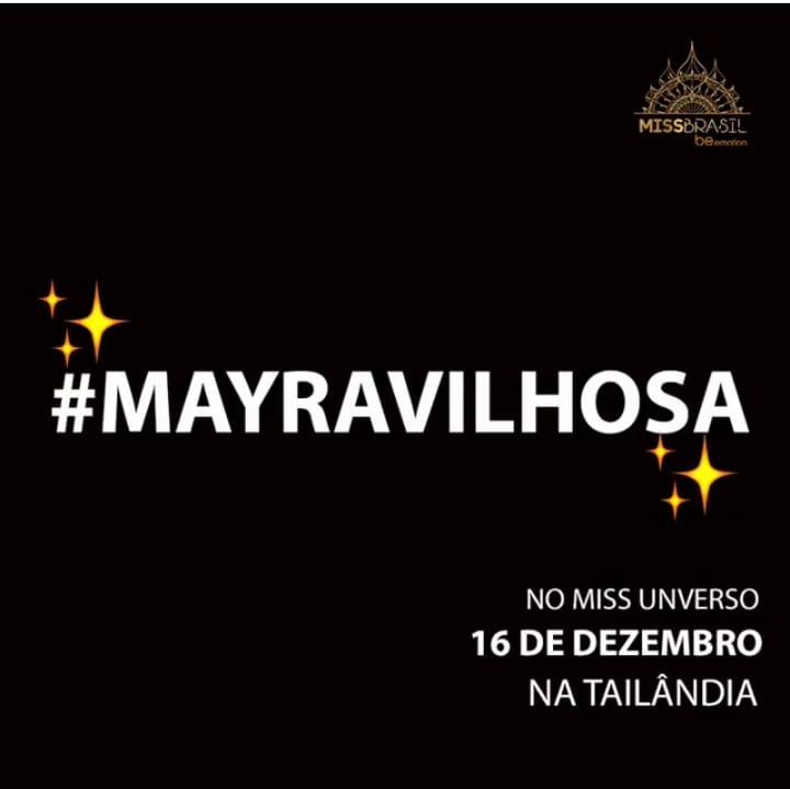 Use a hashtag #mayravilhosa para promover a Miss Brasil 2018 no Miss Universo 2018