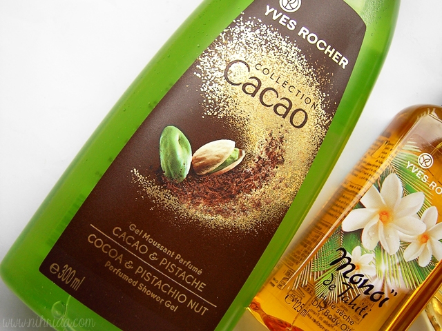 Yves Rocher Cocoa and Pistachio Perfumed Shower Gel