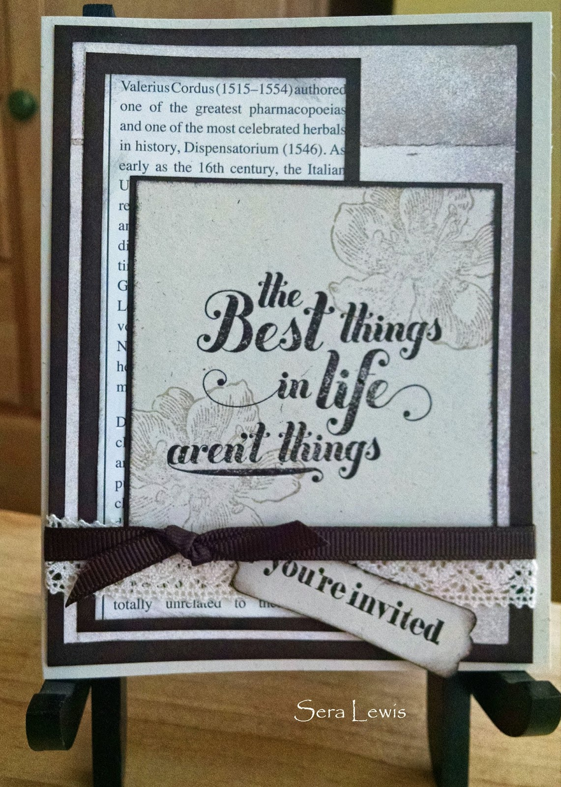 Custom invitations using Stampin' Up! supplies