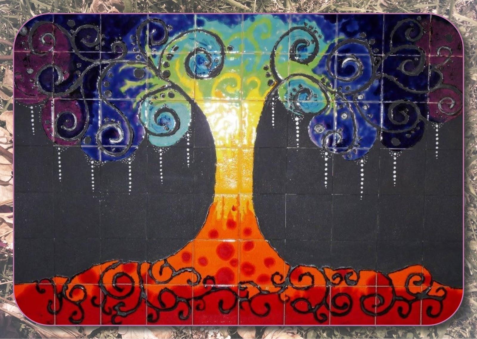 Maria lanusse taller de cer mica murales cuerda seca - Murales de azulejos ...