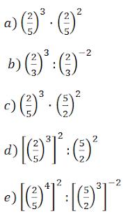 propiedades de las potencias fracciones