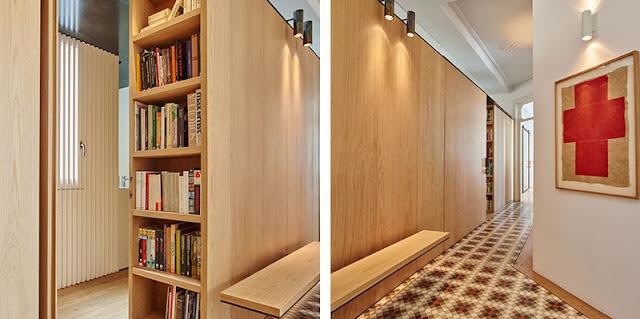 Un armario de madera como organizador del espacio Espacios en madera