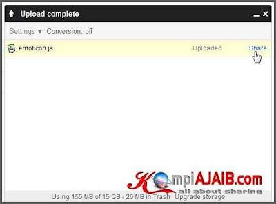 Cara Upload File, HTML, CSS, Javascript Di Google Drive 2