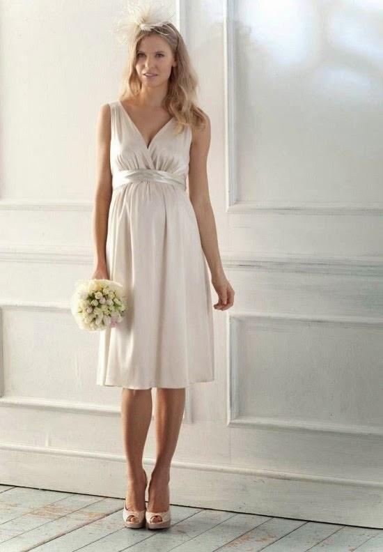Chọn váy cưới cho cô dâu mang bầu duyên dáng 3