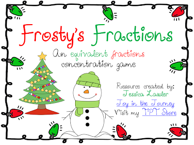 Printables Christmas Fractions joy in the journey december 2013 created a packet that can be used to review equivalent fractions i know its rather christmas y but figure snowmen throughout january