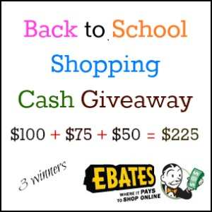 Back to School Shopping Cash Giveaway Event