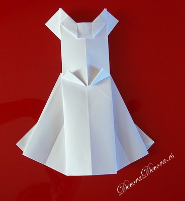 origami vestido de novia