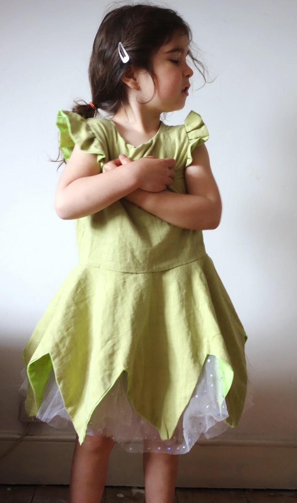 Hanami fairy dress, Straight grain pattern, As it Seams