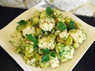 Salade de chou fleur et pommes de terre