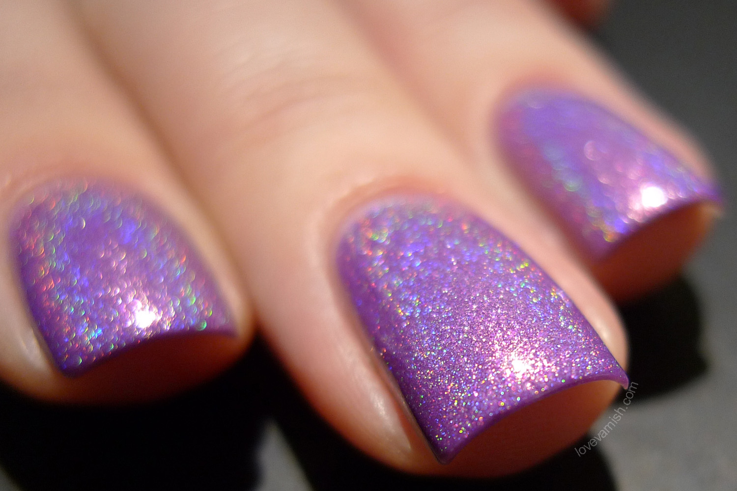 Cirque Heritage Xochitl radiant orchid purple holographic polish
