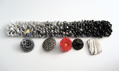 Button clasp choices for bead weaving bracelet