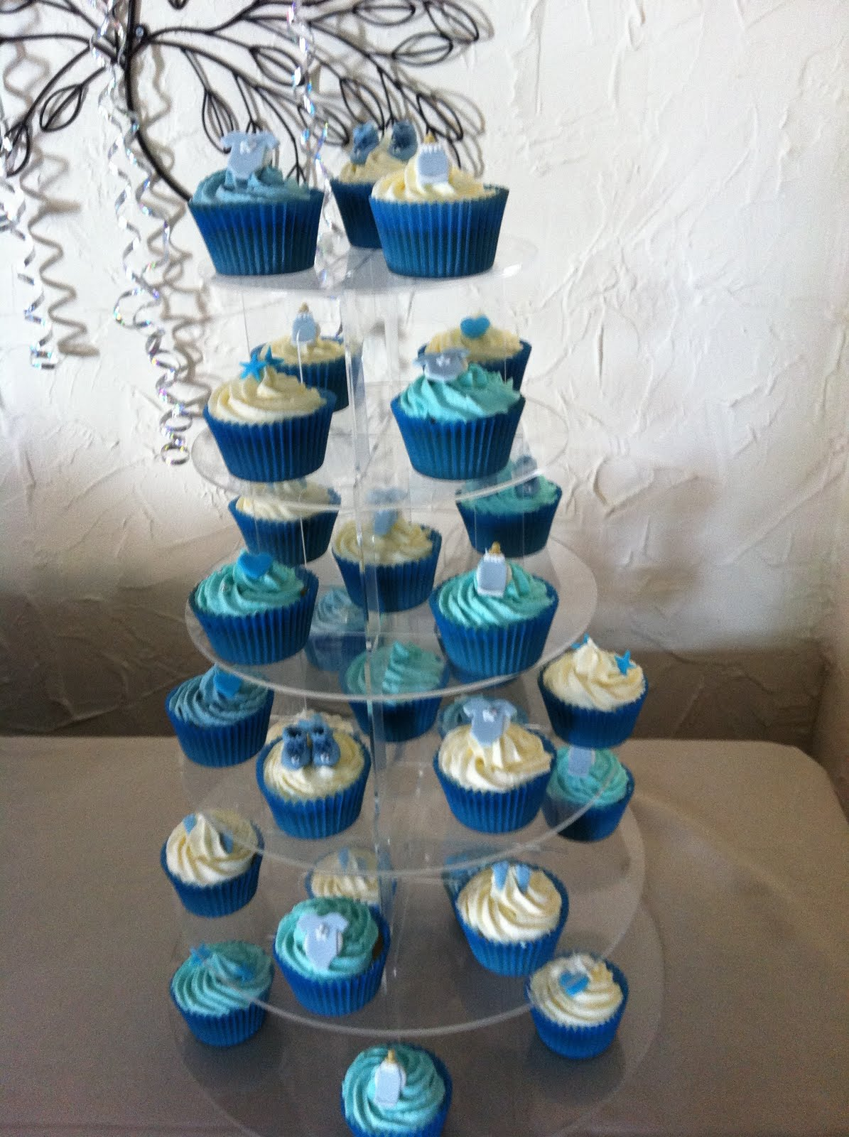 baby boy shower cupcake ideas via