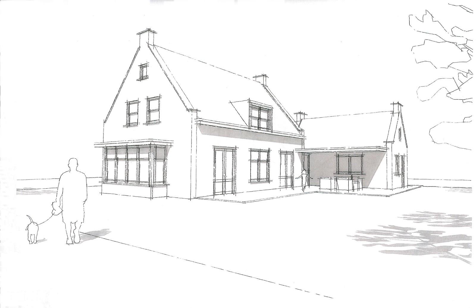 Het bouwen van ons nieuwe huis straat veranderd ontwerp for Huizen tekenen